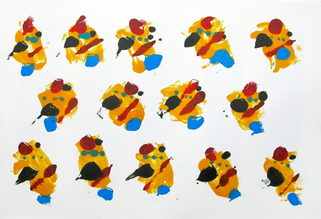 Quince autorretratos 3 Naranja - Javier Fernández