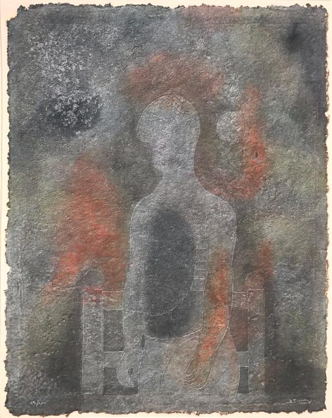 Hombre en gris - Rufino Tamayo
