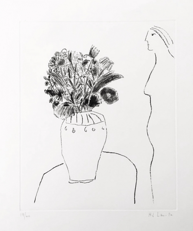 Perfil de mujer con florero I 19/40 - Joy Laville