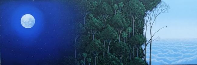 Noche que se convierte en selva