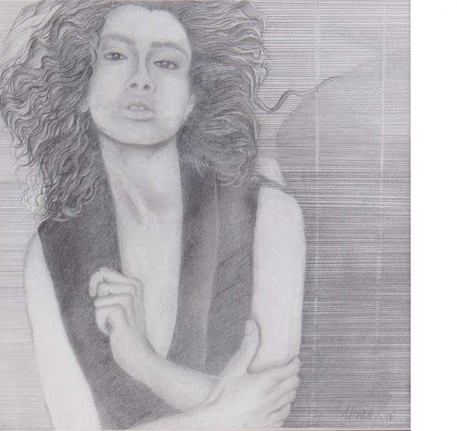 Mujer a rayas - Ana María Urrea