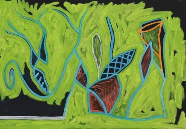 Pintura de la cueva verde