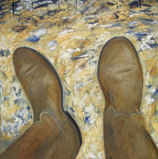 Autorretrato con botas