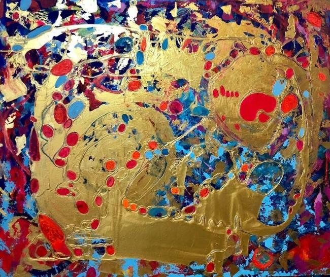 Abstracto dorado