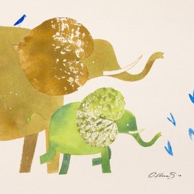 Elefantes (padre e hijo).