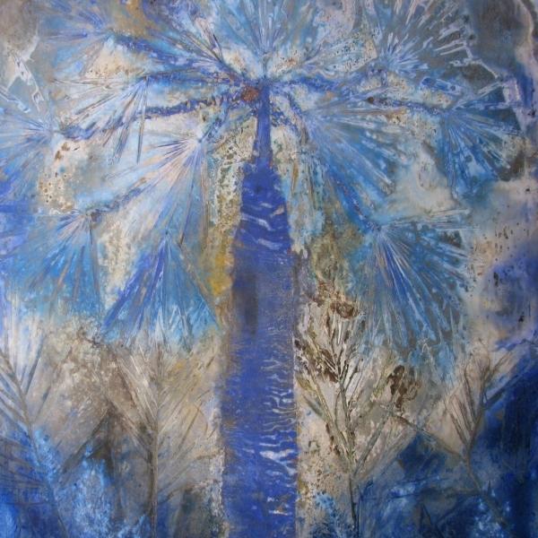 Palmera azul