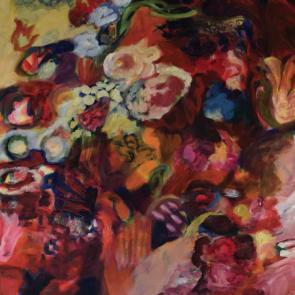 Flores en rojo (díptico)