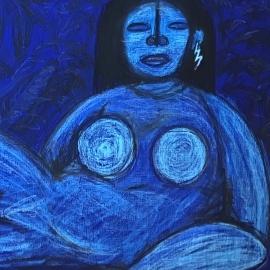 Ella es azul