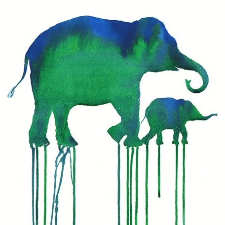 Elefante verde