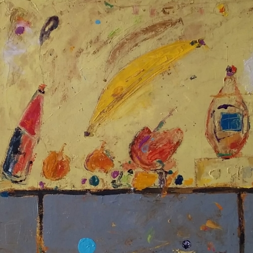 Frutas y botellas
