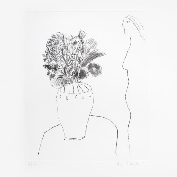 Perfil de mujer con florero I 5/40