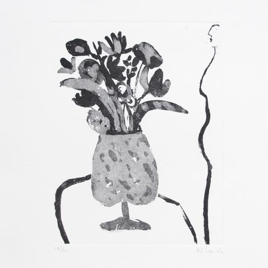 Perfil de mujer con florero II 19/60