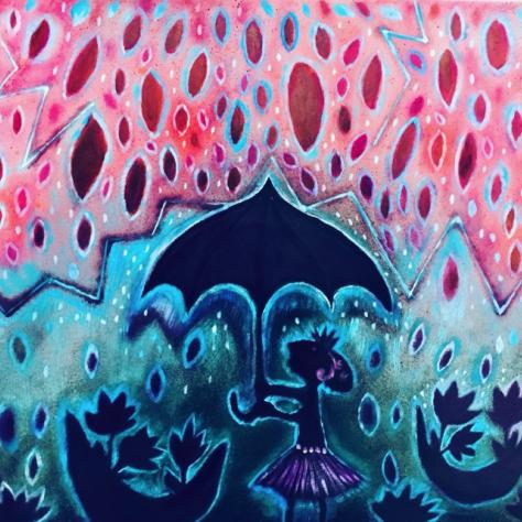 Las lluvias y el negro paraguas