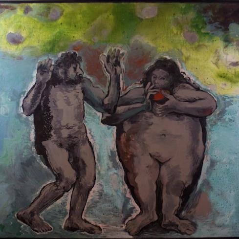 GAN1089 Adán y Eva según Rembrandt