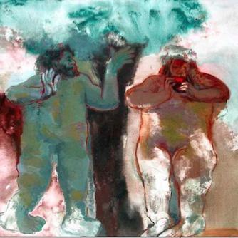 GAN1093 Adán y Eva según Rembrandt 6