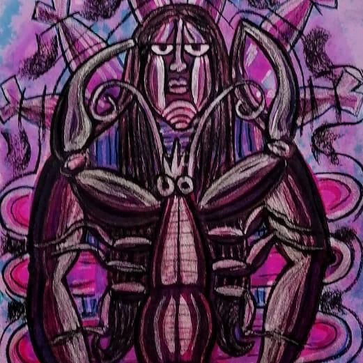 Mujer langosta