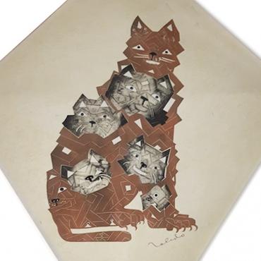 Papalote con gato