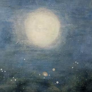 Luna desde el fondo del mar