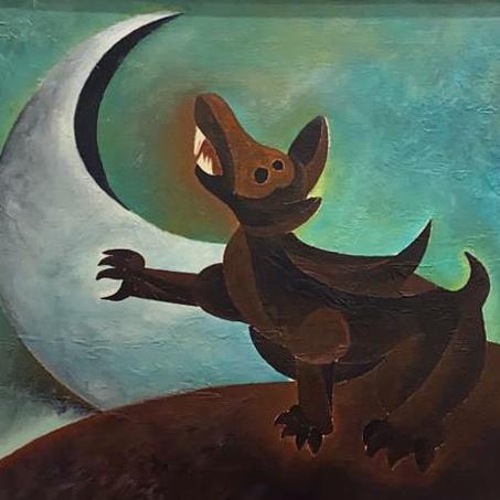 Perro con luna