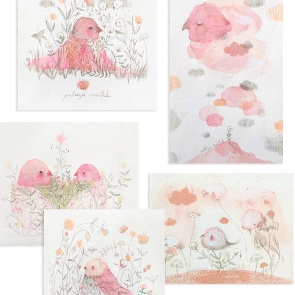 Collage recuerdo en rosa