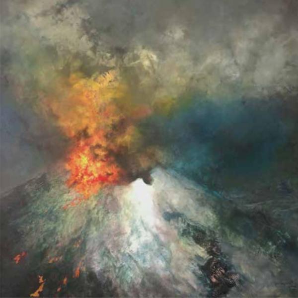 Popocatepetl haciendo erupción