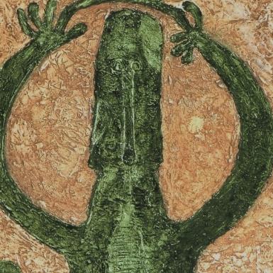 Personaje en verde