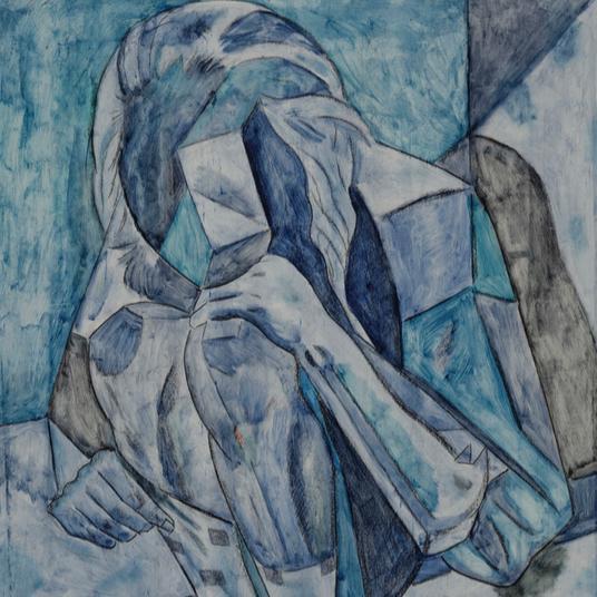 NIña azul