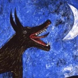 Perro de luna