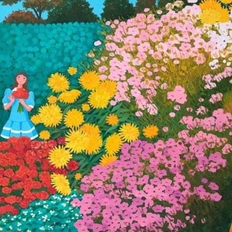Trinidad Osorio- Campo de flores