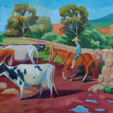 Vacas al corral