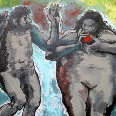 Adán y Eva según Rembrandt 2