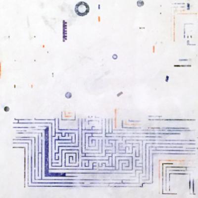 Circuito laberíntico azul
