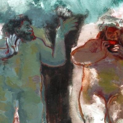 Adán y Eva según Rembrandt 6