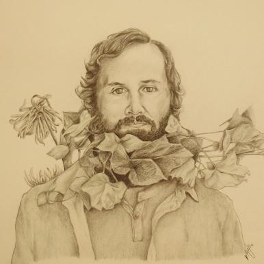 Hombre con hojas