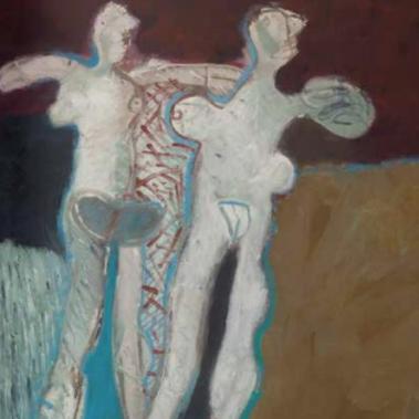 Tres desnudos de paseo