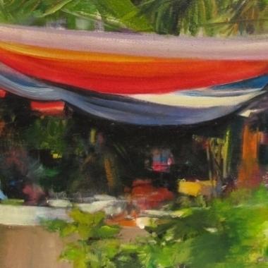 Colorful tarps