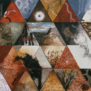 Triángulos III políptico de 48 piezas