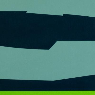 Composición azul, azul-verde