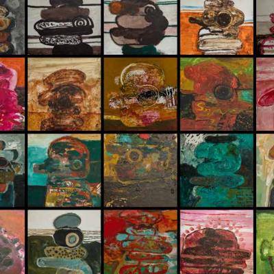cabezas olmecas (20 cuadros)
