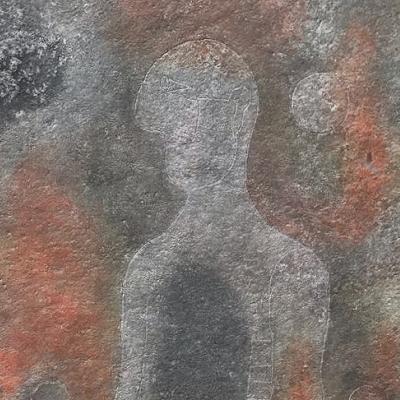 Hombre en gris