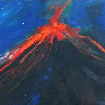 Volcán en Agosto